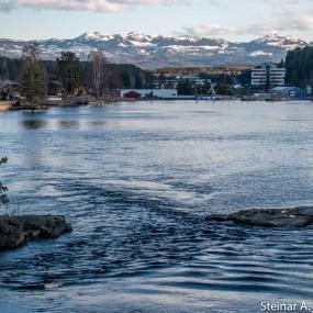 Utsikt mot Skrimfjellene i Kongsberg.
